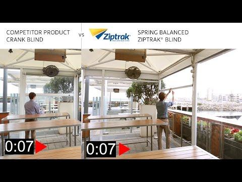 Why Ziptrak® Spring Balanced? Crank vs Spring | Outdoor Blinds