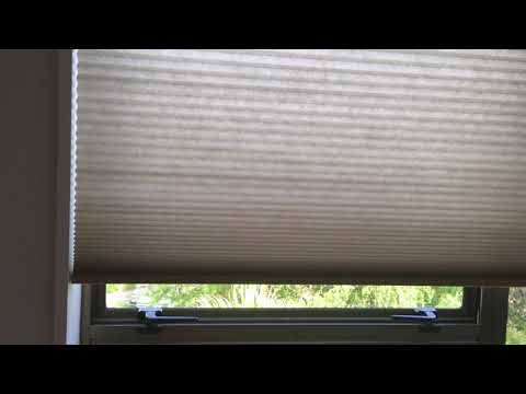 Automated cellular honeycomb blinds