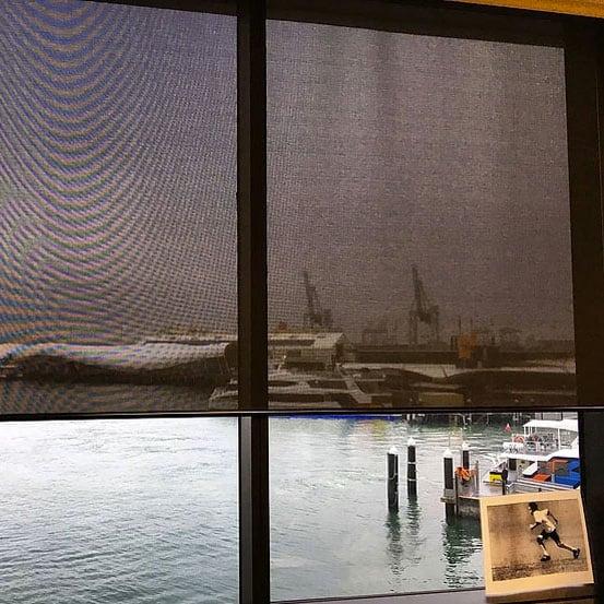 Sunscreen roller blinds in the CBD
