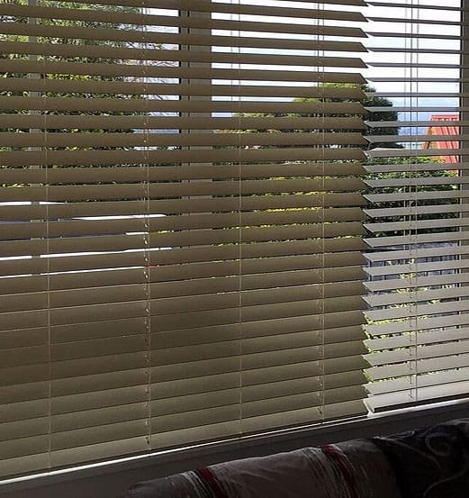 Wooden venetian blinds in Hobsonville