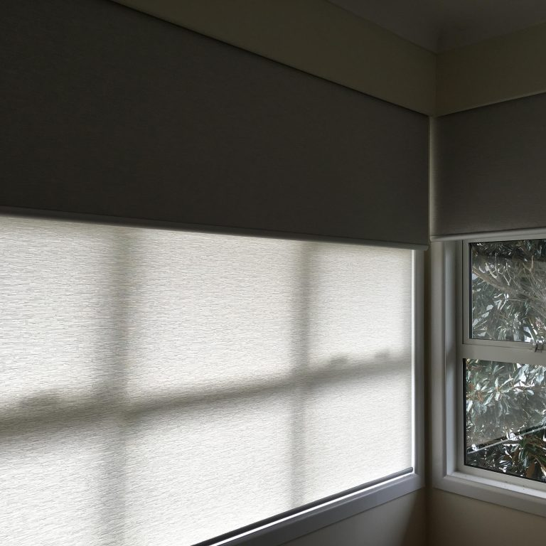 Double roller blinds in Milford
