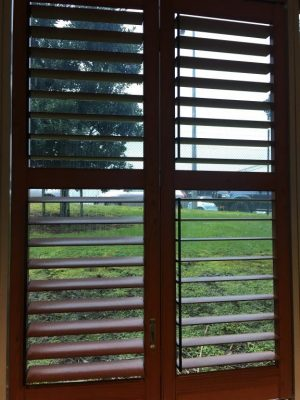 Wooden finish PVC shutters