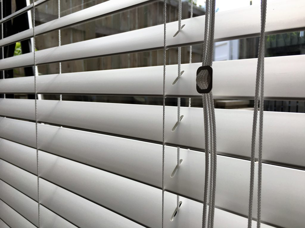 50 mm faux wood venetian blinds in Whangaparaoa