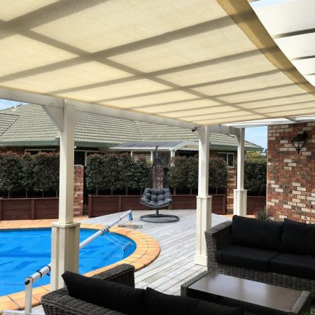 Shadetec shade sail in Orewa