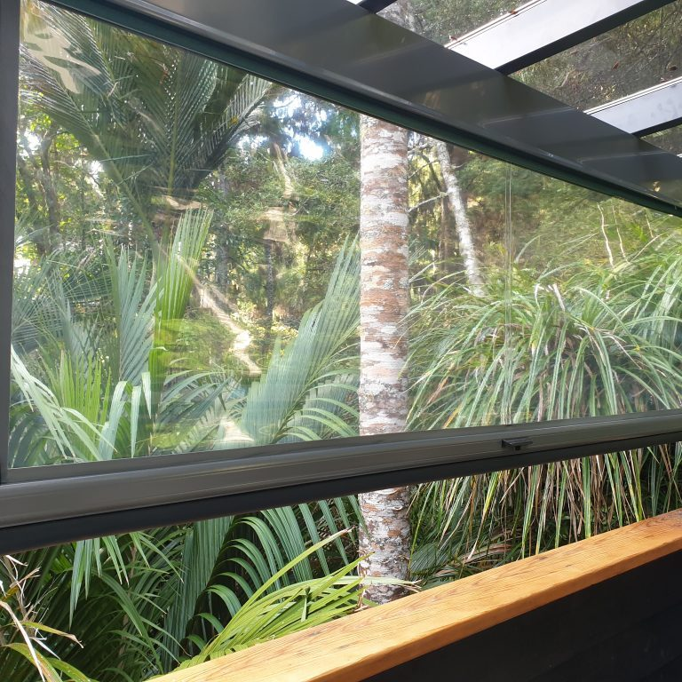 Clear PVC Ziptrak blinds in Birkinhead