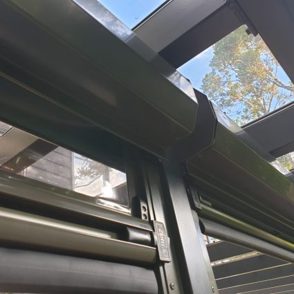 Ziptrak blinds with a pelmet in Birkinhead