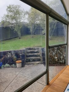 Clear PVC Ziptrak screen in Glen Eden