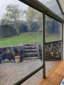 Clear PVC Ziptrak screen in Glen Eden