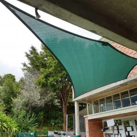Shadetec shade sail in Devonport
