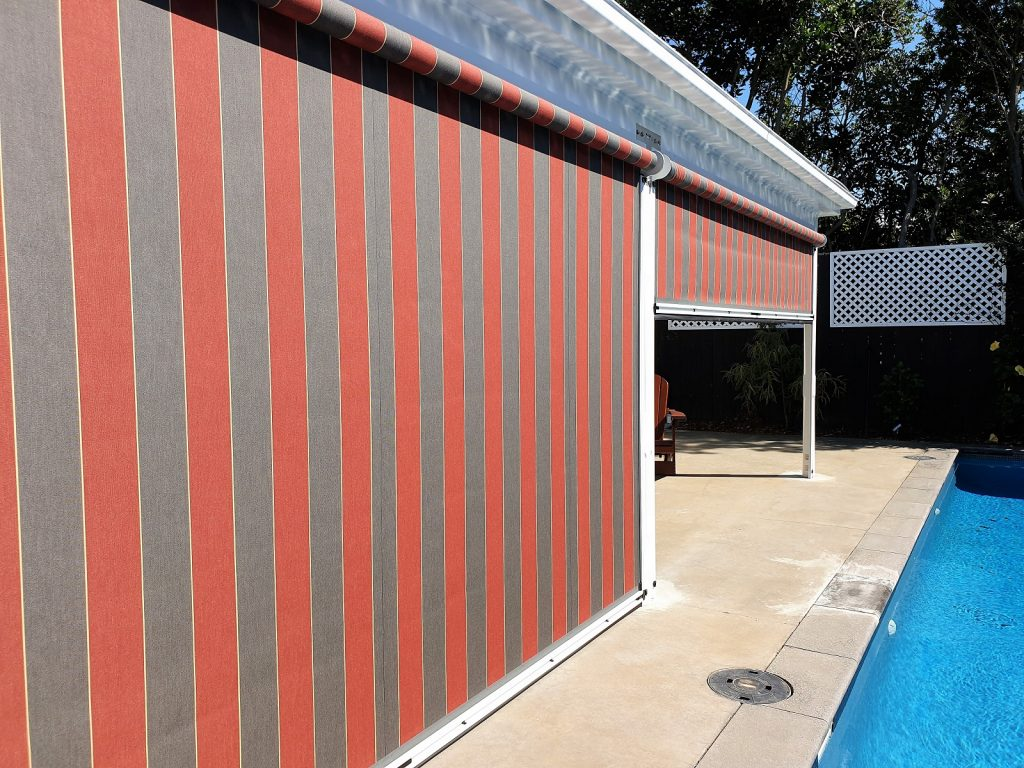 Ziptrak screens with acrylic fabric in Remuera