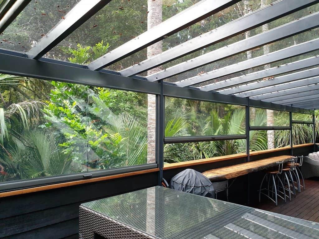 Clear PVC Ziptrak Screens Birkinhead