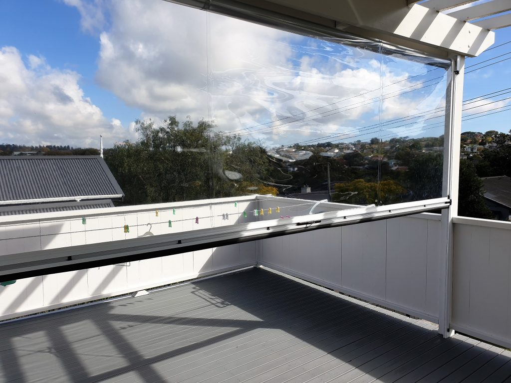 Clear PVC Ziptrak Screens Auckland