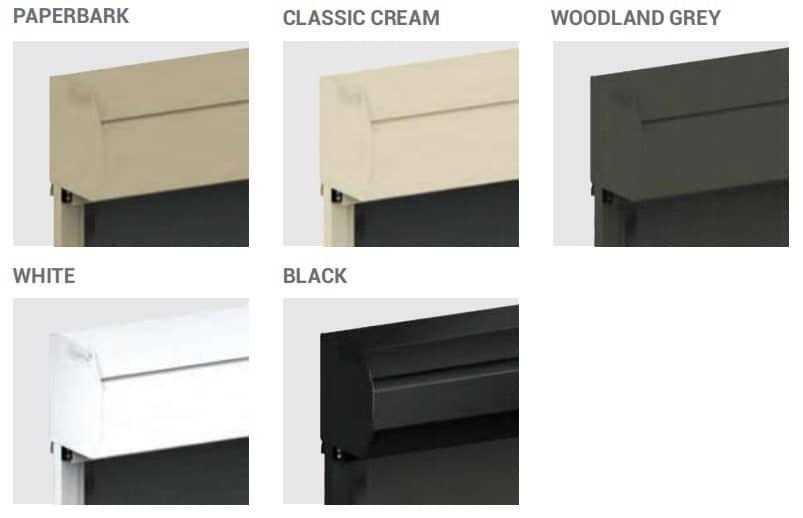 Ziptrak blinds standard colours
