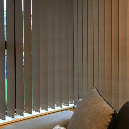 Blockout vertical blinds