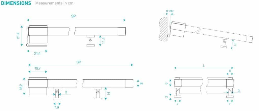 Frame system dimensions