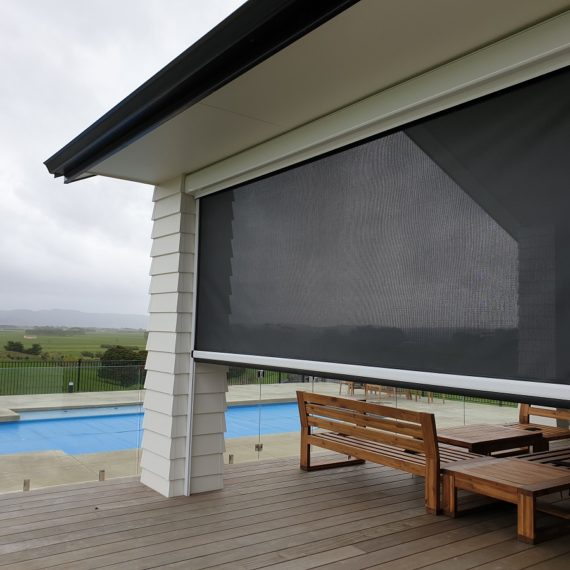 Mesh fabric Ziptrak screens Waiuku