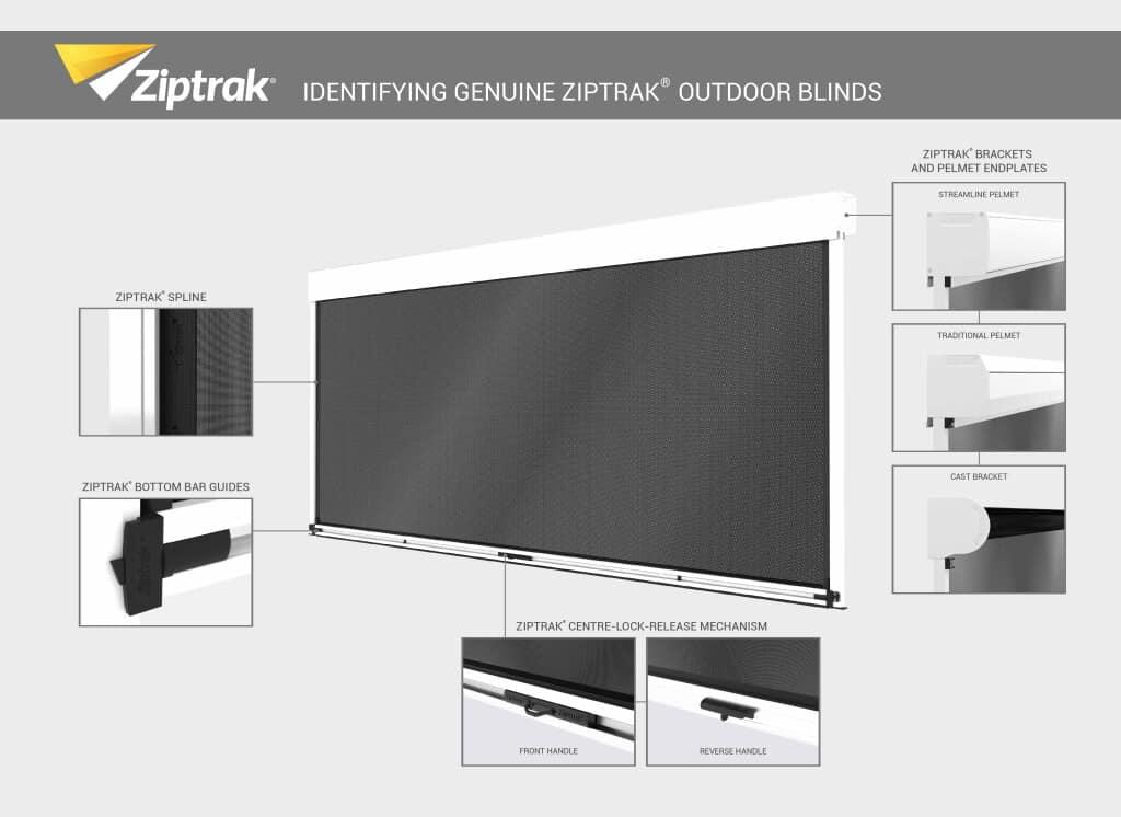 Genuine Ziptrak features