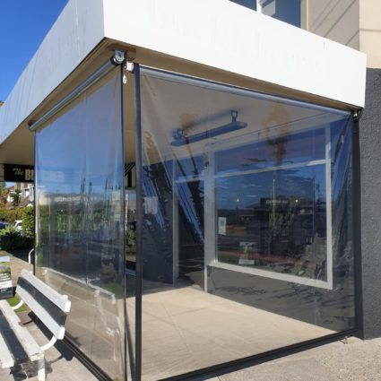 Clear PVC cafe screen in Milford