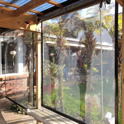 Clear PVC cafe screen in Albany