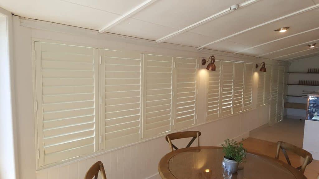 Riviera AL PVC shutters on Waiheke Island