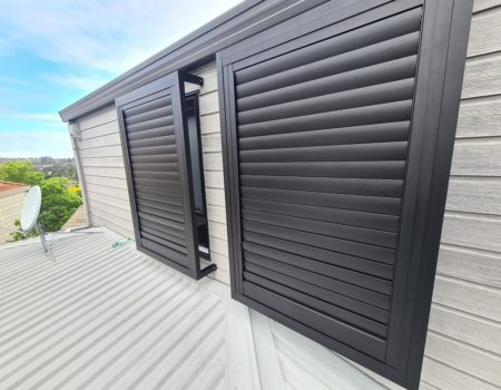 Outdoor shutters in Remuera