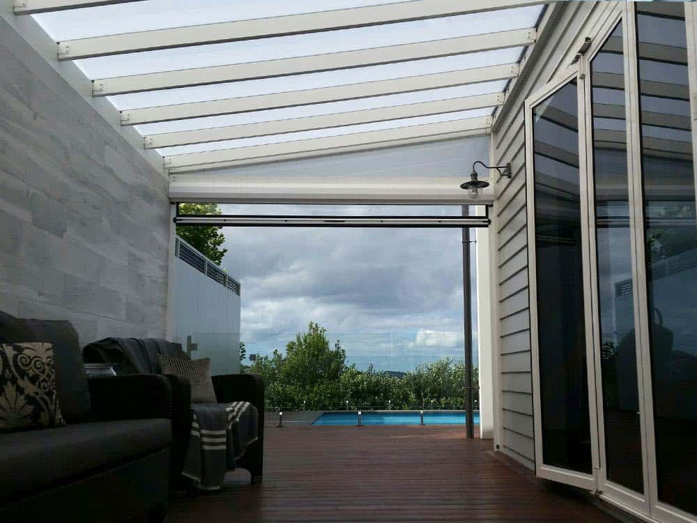 ClearVue® Pergola with Ziptrak blind