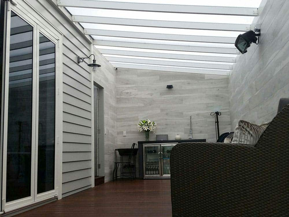 ClearVue® Pergola with 8 mm Diffused panels