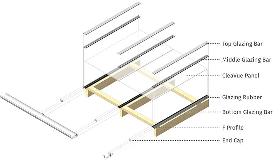 ClearVue Pergola glazing bars